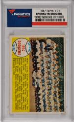 Duke Snider/Roy Campanella/Sandy Koufax Brooklyn Dodgers 1957 Topps #71 Card
