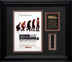 DUMB & DUMBER 2 FRAMED PHOTO w/FILM STRIP AND PLATE