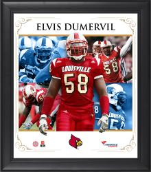 "Elvis Dumervil Louisville Cardinals Framed 15"" x 17"" Core Composite Photograph"