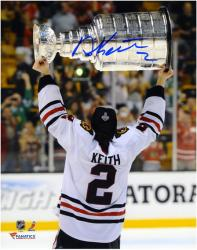 """Duncan Keith Chicago Blackhawks 2013 NHL Stanley Cup Final Champions 8"""" x 10"""" Autographed Back Photograph"""