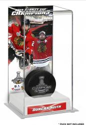 Duncan Keith Chicago Blackhawks 2015 Stanley Cup Champions Logo Deluxe Puck Case