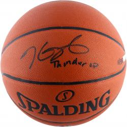 Kevin Durant OKC Thunder LE Autographed Replica Basketball w/ Thunder Up - Mounted Memories
