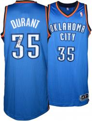Kevin Durant Oklahoma City Thunder Autographed Authentic Blue Jersey - Mounted Memories