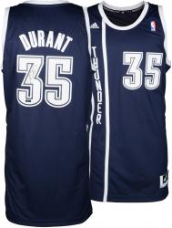 Kevin Durant Oklahoma City Thunder Autographed Replica Alternate Blue Jersey - Mounted Memories
