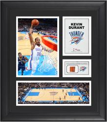 "Kevin Durant Oklahoma City Thunder Framed 15"" x 17"" Collage with Team-Used Ball"