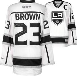 Dustin Brown Los Angeles Kings 2014 Stanley Cup Champions Autographed Reebok White Jersey with SC Champs 2012/2014 Inscription - Mounted Memories
