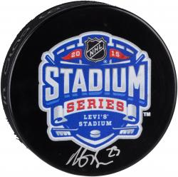 Dustin Brown Los Angeles Kings Autographed 2015 Stadium Series Logo Hockey Puck