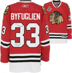 Chicago Blackhawks Dustin Byfuglien 2010 Stanley Cup Champions Autographed Jersey