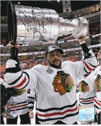"Chicago Blackhawks Dustin Byfuglien 2010 Stanley Cup Champions Autographed 8"" x 10"" Photo - Mounted Memories"