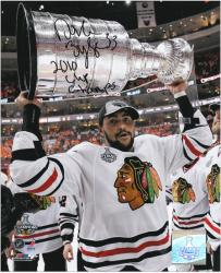 Chicago Blackhawks Dustin Byfuglien 2010 Stanley Cup Champions Autographed 8'' x 10'' Photo - Mounted Memories
