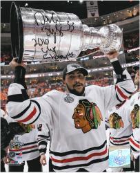 "Chicago Blackhawks Dustin Byfuglien 2010 Stanley Cup Champions Autographed 8"" x 10"" Photo"