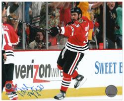 Chicago Blackhawks Dustin Byfuglien 2010 Stanley Cup Champions Autographed 8'' x 10'' Photo - - Mounted Memories