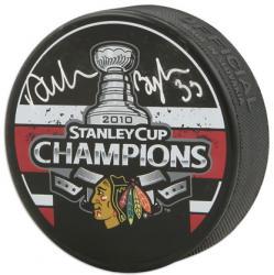 Chicago Blackhawks Dustin Byfuglien 2010 Stanley Cup Champions Autographed Puck