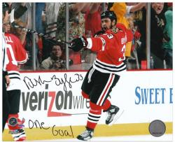 Chicago Blackhawks Dustin Byfuglien 2010 Stanley Cup Champions Autographed 8'' x 10'' Photo --- - Mounted Memories