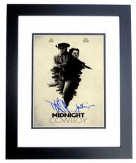 Dustin Hoffman and Jon Voight Signed - Autographed Midnight Cowboy 11x17 inch Photo BLACK CUSTOM FRAME - Guaranteed to pass PSA or JSA