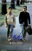 "Dustin Hoffman Autographed 12"" x 18"" Rain Man Movie Poster - Beckett COA"
