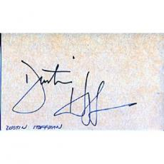 Dustin Hoffman Autographed/Signed 3x5 Card