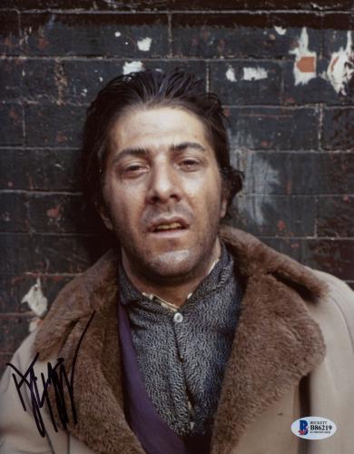 "Dustin Hoffman Autographed 8"" x 10"" Midnight Cowboy Upset Leaning Against Wall Photograph - Beckett COA"