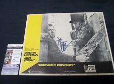 Dustin Hoffman & Jon Voight Dual Signed Midnight Cowboy Lobby Card JSA COA
