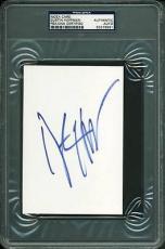 Dustin Hoffman Signed 4x6 Index Card Autographed Psa/dna Slabbed