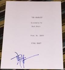 "Dustin Hoffman Signed Autograph 1967 ""the Graduate"" Full Movie Script Coa"