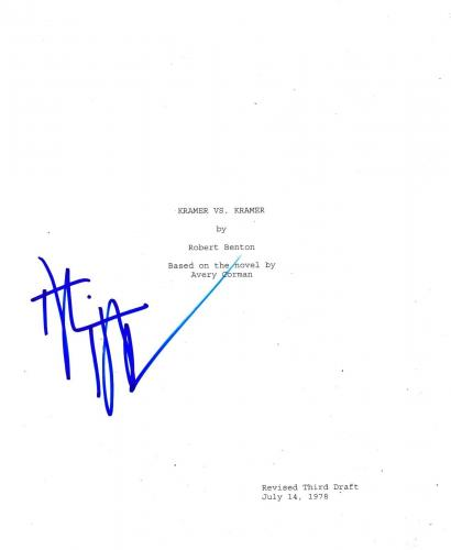 Dustin Hoffman Signed Kramer Vs Kramer 132 Page Script Authentic Auto Coa