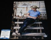 Dustin Lynch signed 11 x 14, Cowboys and Angels, Hell of a Night, Beckett BAS