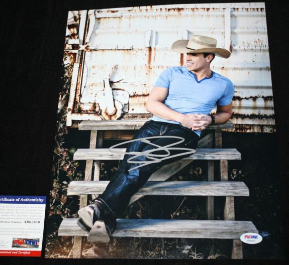Autographed Dustin Lynch Photo - 11 x 14 Angels Hell of a Night PSA DNA