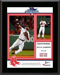 Dustin Pedroia Boston Red Sox 2013 American League Champions Sublimated 10.5'' x 13'' Plaque - Mounted Memories