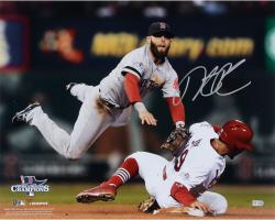 "Dustin Pedroia Boston Red Sox 2013 World Series Champions Autographed 16"" x 20"" Double Play Photograph"