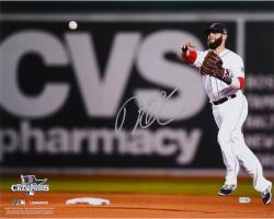 "Dustin Pedroia Boston Red Sox 2013 World Series Champions Autographed 16"" x 20"" Throwing Photograph"