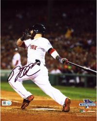 "Dustin Pedroia Boston Red Sox 2013 World Series Champions Autographed 8"" x 10"" Follow Through Photograph"