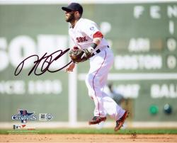 "Dustin Pedroia Boston Red Sox 2013 World Series Champions Autographed 8"" x 10"" Green Monster Photograph"