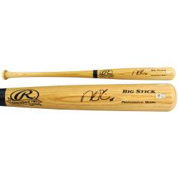 Dustin Pedroia Boston Red Sox 2013 World Series Champions Autographed Rawlings Pro Bat - Mounted Memories