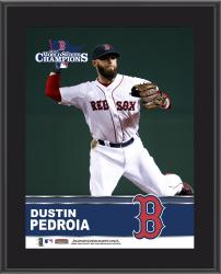 Dustin Pedroia Boston Red Sox 2013 MLB World Series Champions 10'' x 13'' Sublimated Player Plaque - Mounted Memories