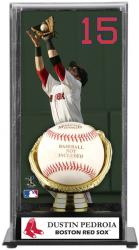 Dustin Pedroia Boston Red Sox Baseball Display Case with Gold Glove & Plate