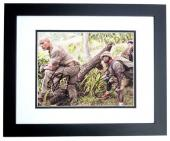 Dwayne Johnson and Kevin Hart Signed - Autographed Jumanji: Welcome to the Jungle 8x10 inch Photo BLACK CUSTOM FRAME - Guaranteed to pass PSA or JSA