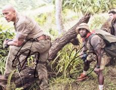 Dwayne Johnson and Kevin Hart Signed - Autographed Jumanji: Welcome to the Jungle 8x10 inch Photo - Guaranteed to pass PSA or JSA