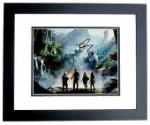 Dwayne Johnson, Karen Gillan, and Kevin Hart Signed - Autographed Jumanji: Welcome to the Jungle 11x14 inch Photo BLACK CUSTOM FRAME - Guaranteed to pass PSA or JSA