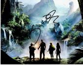 Dwayne Johnson, Karen Gillan, and Kevin Hart Signed - Autographed Jumanji: Welcome to the Jungle 11x14 inch Photo - Guaranteed to pass PSA or JSA