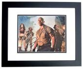 Dwayne Johnson, Karen Gillan, and Kevin Hart Signed - Autographed Jumanji: Welcome to the Jungle 8x10 inch Photo BLACK CUSTOM FRAME - Guaranteed to pass PSA or JSA