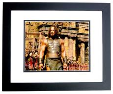 Dwayne Johnson Signed - Autographed Hercules 11x14 inch Photo BLACK CUSTOM FRAME - Guaranteed to pass PSA or JSA
