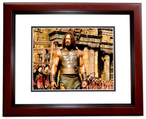Dwayne Johnson Signed - Autographed Hercules 11x14 inch Photo MAHOGANY CUSTOM FRAME - Guaranteed to pass PSA or JSA