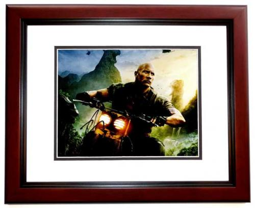 Dwayne Johnson Signed - Autographed Jumanji: Welcome to the Jungle 11x14 inch Photo MAHOGANY CUSTOM FRAME - Guaranteed to pass PSA or JSA