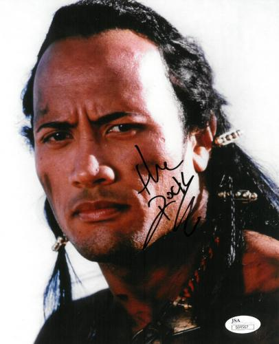 Dwayne Johnson Signed Hercules Authentic Autographed 8x10 Photo JSA #S04567