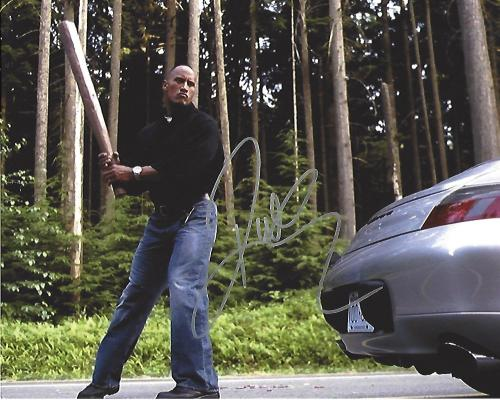 "DWAYNE JOHNSON (THE ROCK) as CHRIS VAUGHN in 2004 Movie ""WALKING TALL"" Signed 10x8 Color Photo"