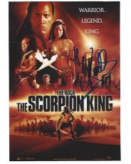 "DWAYNE JOHNSON  (THE ROCK) as MATHAYUS in 2002 Movie ""THE SCORPION KING"" Signed 8x10 Color Photo"