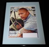 Dwayne Johnson The Rock Framed 11x14 ORIGINAL 2018 Rolling Stone Cover