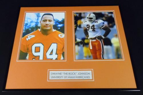Dwayne Johnson The Rock Framed 16x20 Photo Display Miami