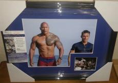 Dwayne Johnson The Rock Signed Autographed 13x16 Matted & Framed Jsa Coa Rare